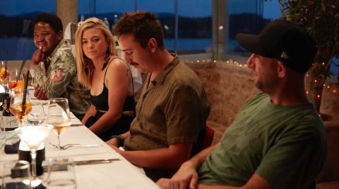 Mzi and Malia contemplate Chef Mathew and his explanation for letting the crew down during the opening charter of 'Below Deck Mediterranean' Season 6.