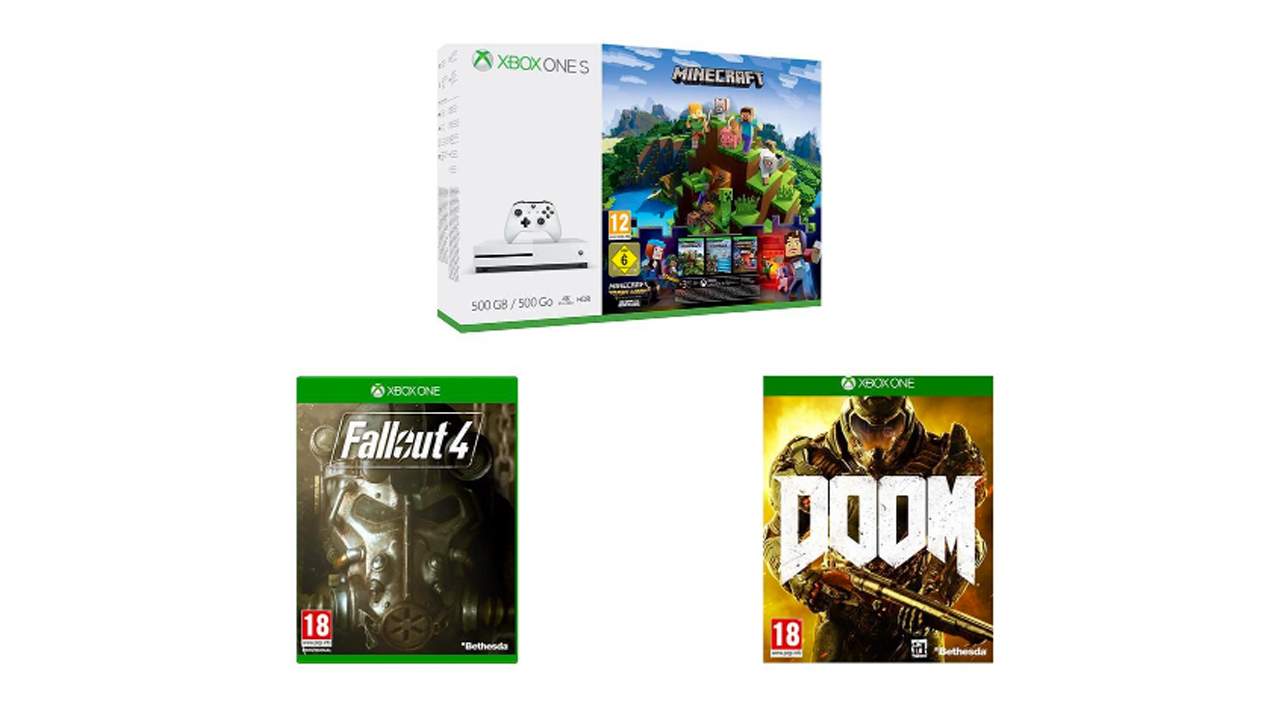 Don't miss this Xbox One S + DOOM, Fallout 4 and Minecraft