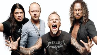 Ulrich with his Metallica bandmates