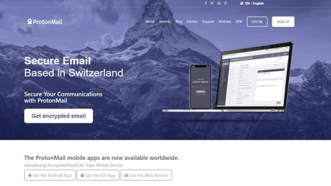 ProtonMail secure email review