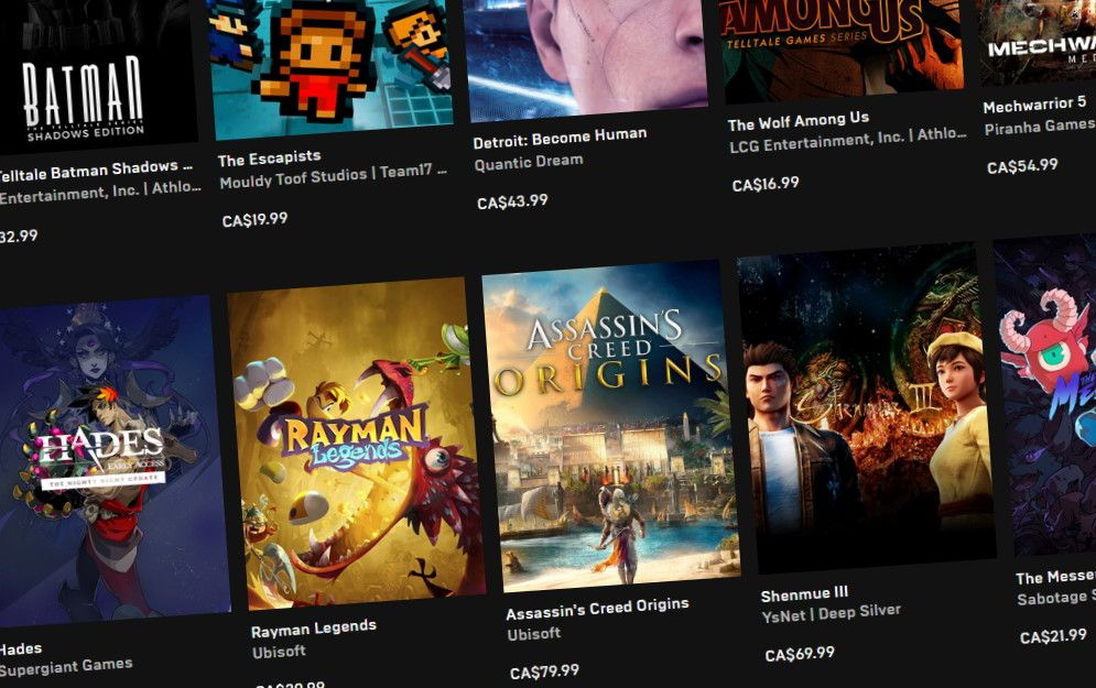 Epic Games Store adds local pricing for Canada, Australia, and more