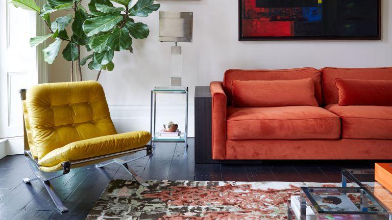 Livingetc-House-Tour-Modern-Home-Living-Room-Orange-Sofa