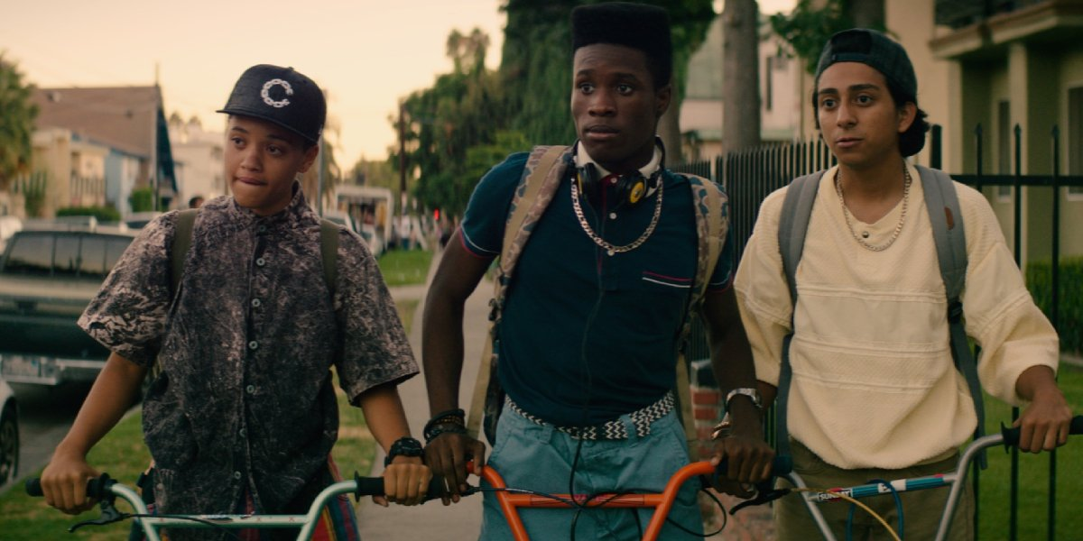 Kiersey Clemons, Shameik Moore, and Tony Revolori in Dope