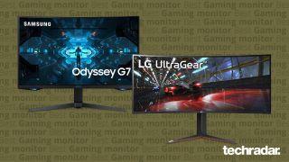 Due dei migliori monitor gaming su sfondo beige