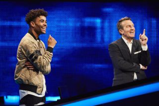 Ex Hollyoaks star Malique with Bradley Walsh on The Chase