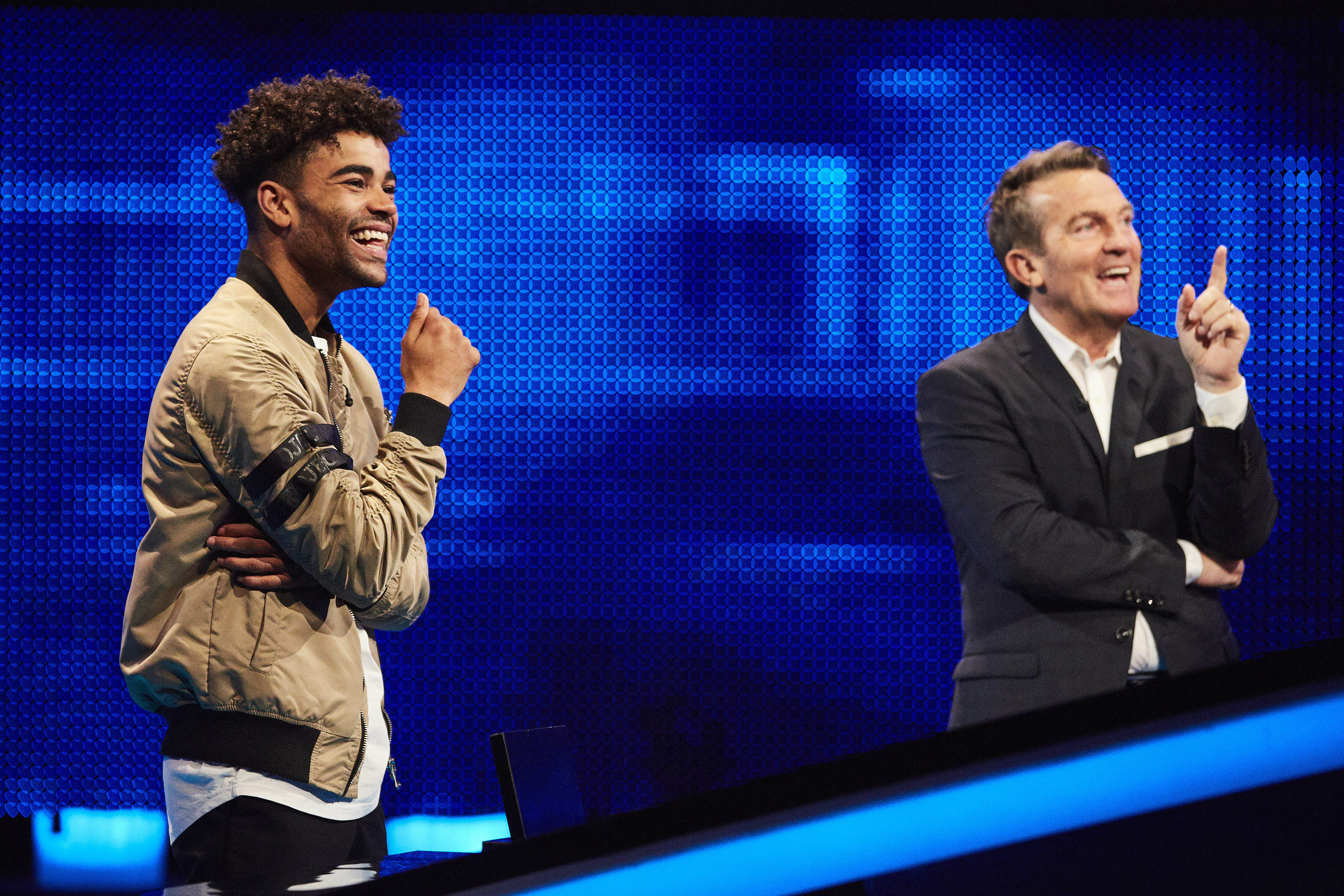 Hollyoaks star Malique reduces Bradley Walsh to tears of laughter on The Chase with his answer to 'saucy' question