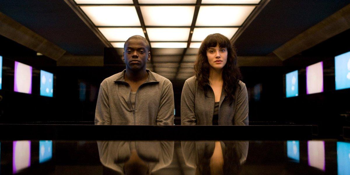 "Daniel Kaluuya and Jessica Brown Findlay in the Black Mirror episodes ""Fifteen Million Merits"""