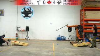 Robotic Arm Playing Cornhole