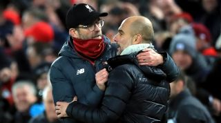 Jurgen Klopp, Liverpool, and Pep Guardiola, Man City