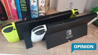 Nintendo Switch OLED Game Card slot comparison