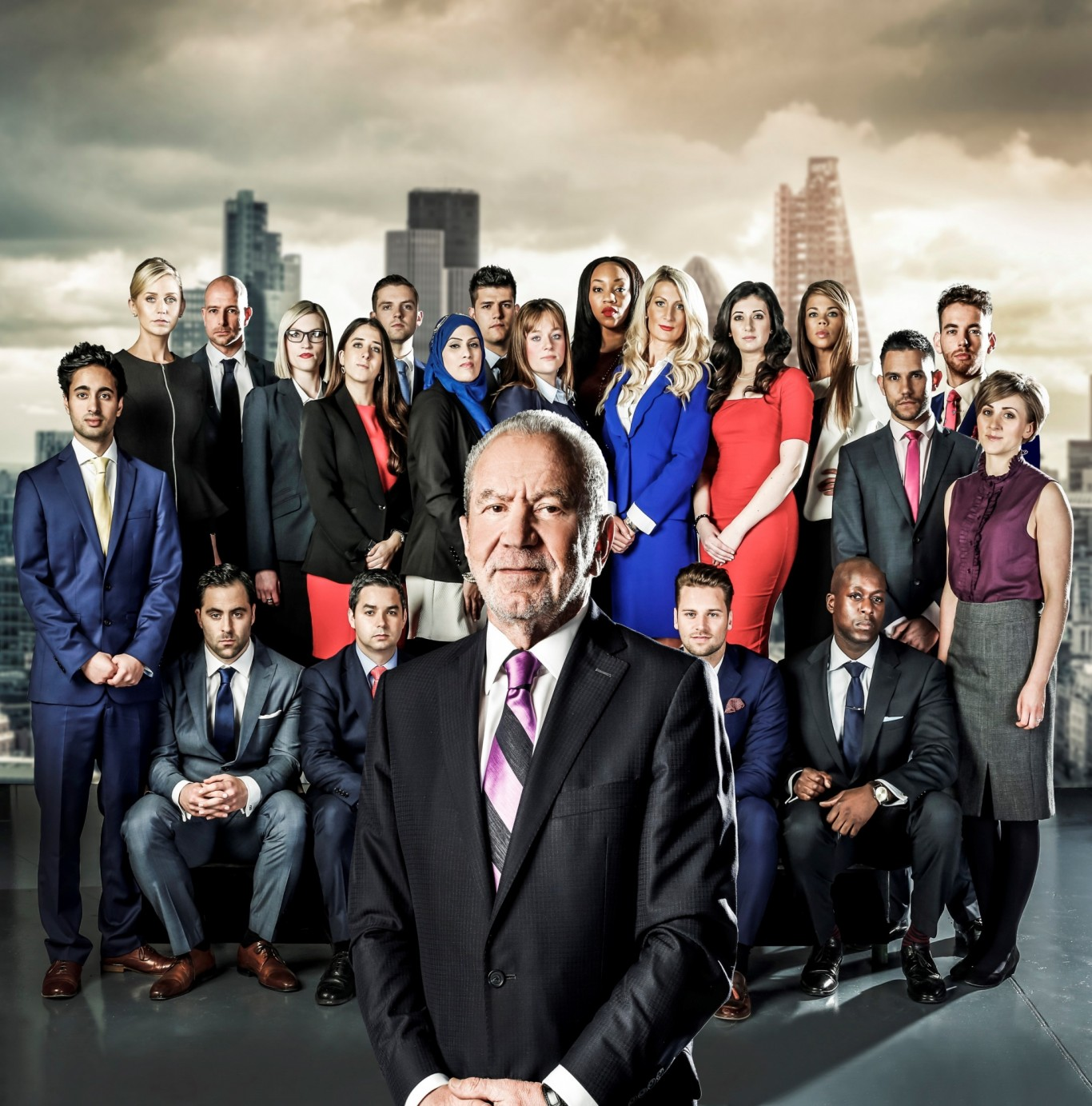 The Apprentice contestants and Lord Sugar