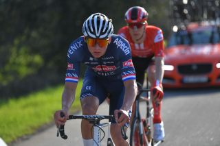 LAGOS PORTUGAL FEBRUARY 19 Mathieu Van Der Poel of The Netherlands and Team AlpecinFenix during the 46th Volta ao Algarve 2020 Stage 1 a 1956km stage from Portimo to Lagos VAlgarve2020 on February 19 2020 in Lagos Portugal Photo by Tim de WaeleGetty Images