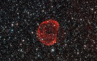 Remains of Star Supernova SNR 0519 1920