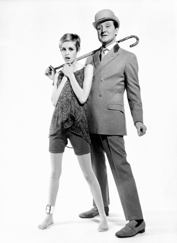 Patrick Macnee and Twiggy