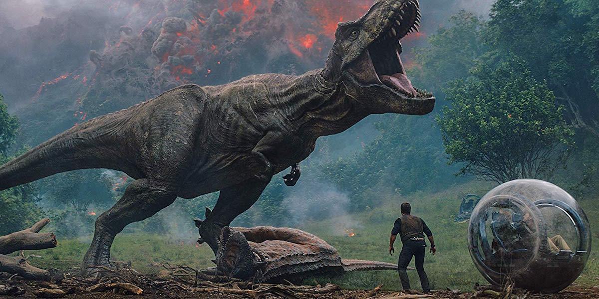 T-rex roaring in Jurassic World: Fallen Kingdom