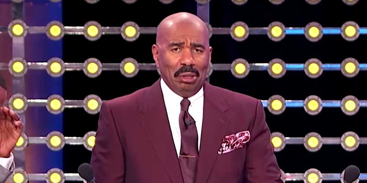 steve harvey confused face family feud