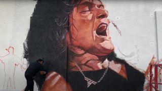 Eddie Van Halen mural at Guitar Center Hollywood