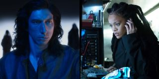 Adam Driver in Annette and Rihanna in Ocean's 8, pictured side by side