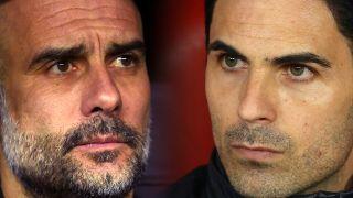 Pep Guardiola och Mikel Arteta