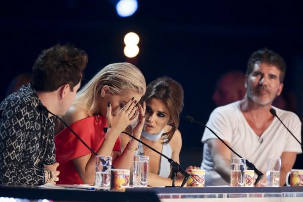 X Factor judges Nick Grimshaw, Rita Ora, Cheryl Fernandez-Versini and Smon Cowell
