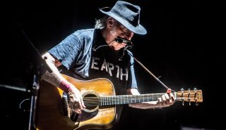 Neil Young performs live at Market Sound in Milan, Italy, on July 18, 2016