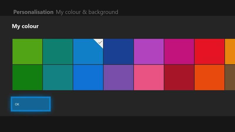 Xbox Series X color picker