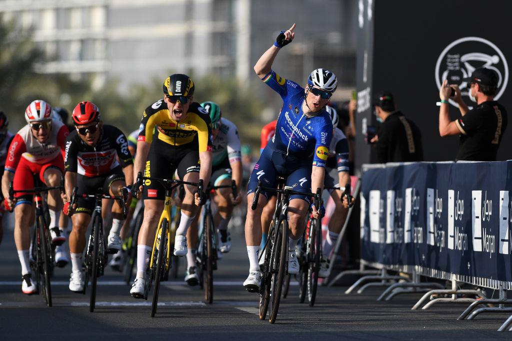 Sam Bennett (Deceuninck-QuickStep) won stage 4 at the UAE Tour