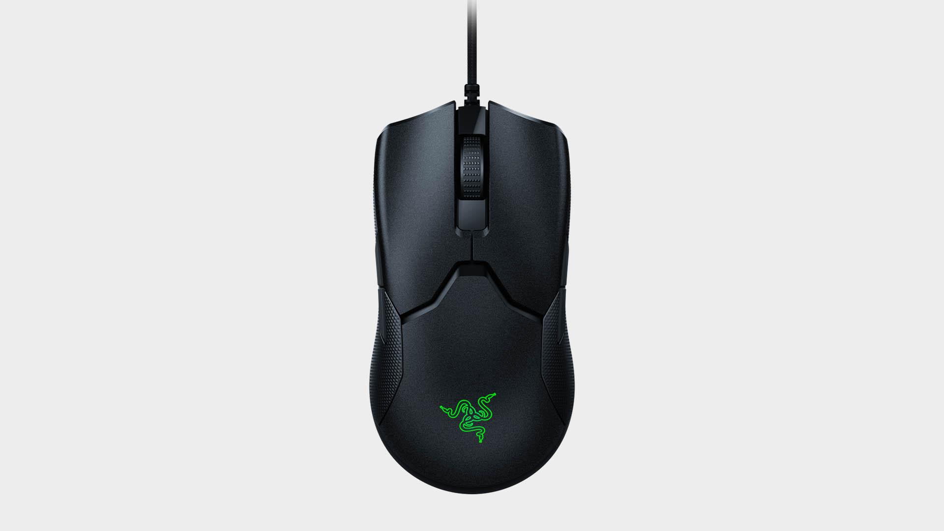 Razer Viper 8KHz gaming mouse on grey background