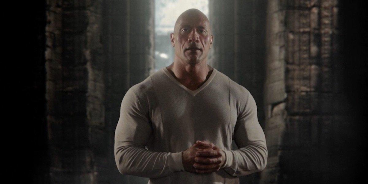 Dwayne Johnson as The Rock in Black Adam DC Fandome teaser