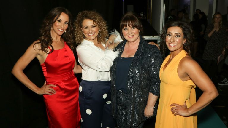 Presenters of the ITV show 'Loose Women': Andrea McLean, Nadia Sawalha, Colleen Nolan and Saira Khan