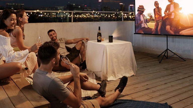 best outdoor projector: Nebula Apollo Smart Portable Projector