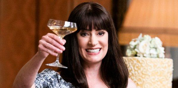 paget brewster toasting at rossi's wedding criminal minds