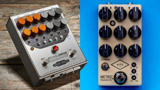 Origin Effects RevivalDRIVE and Revival Electric Metric pedals