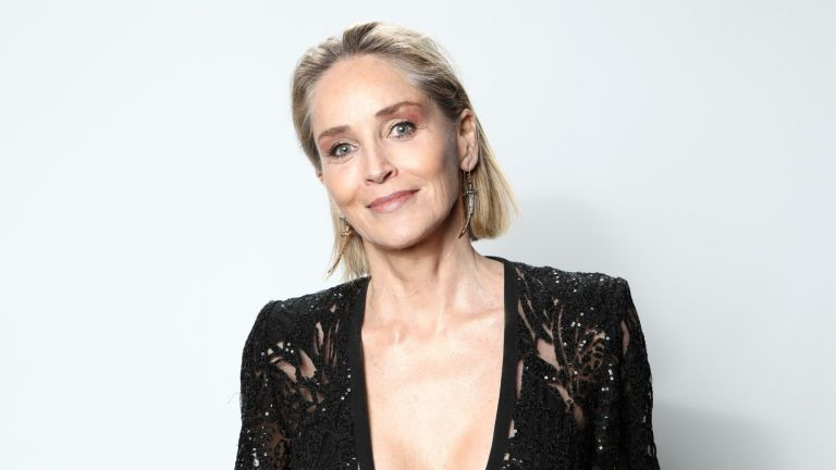 Sharon Stone claims, attends IMDb LIVE Presented By M&M'S At The Elton John AIDS Foundation Academy Awards Viewing Party on February 09, 2020 in Los Angeles, California.