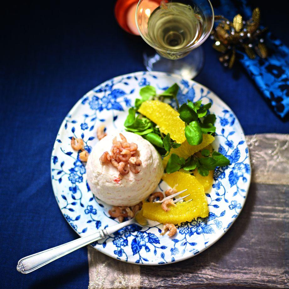 Prawn Mousse With Orange And Watercress Salad Recipe