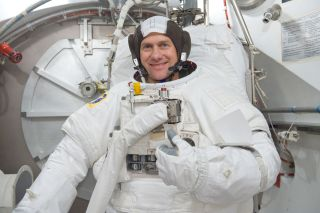 Astronaut Marshburn in Spacesuit
