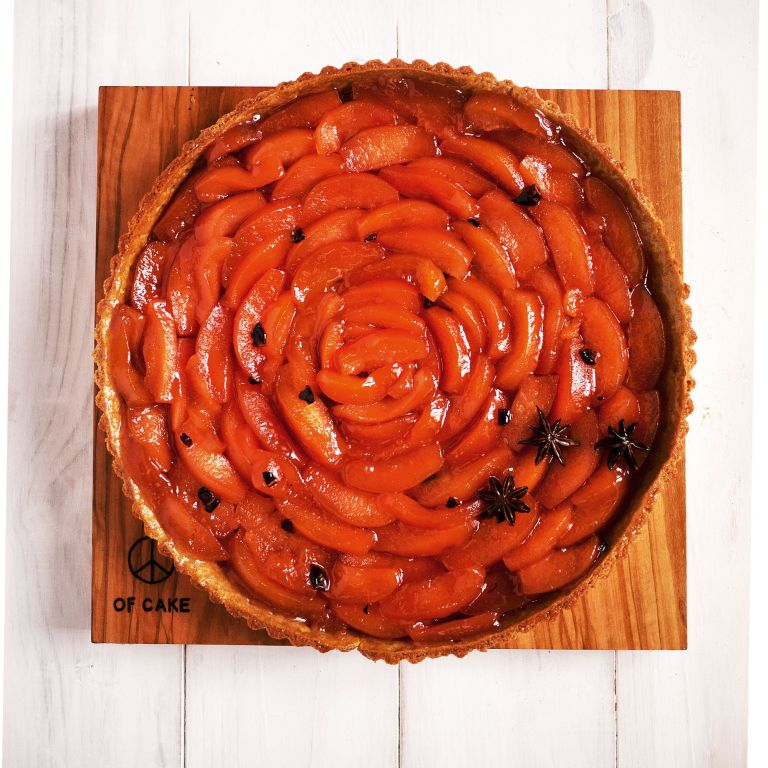 Lily Vanilli quince tart photo
