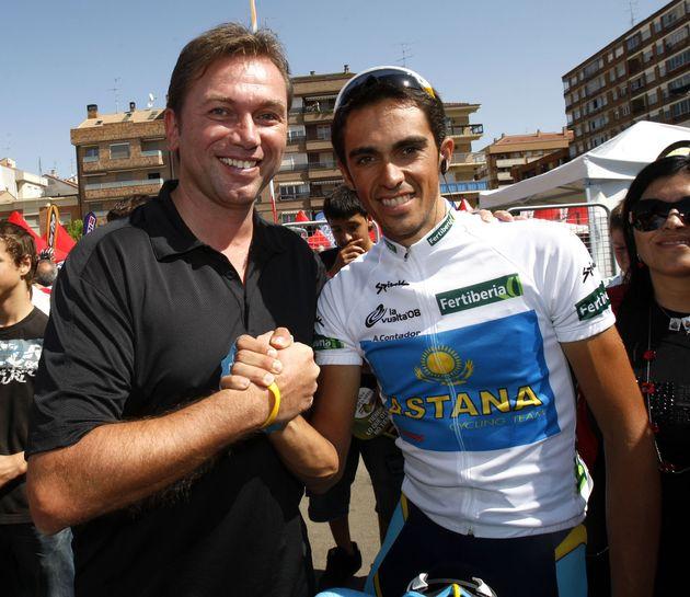 Johan Bruyneel and Alberto Contador