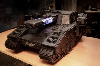 A custom build that looks like a Stormblade tank model from Warhammer 40,000