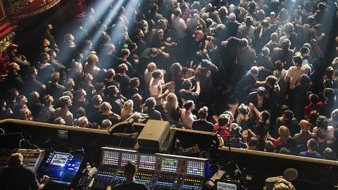 A crowd at a prog gig