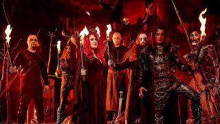 Cradle Of Filth surrounded by flames