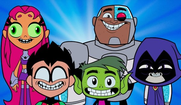 Teen Titans Go! To The Movies the Teen Titans making funny faces