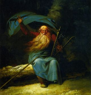 A painting of the Ossian, the third-century Scottish bard.