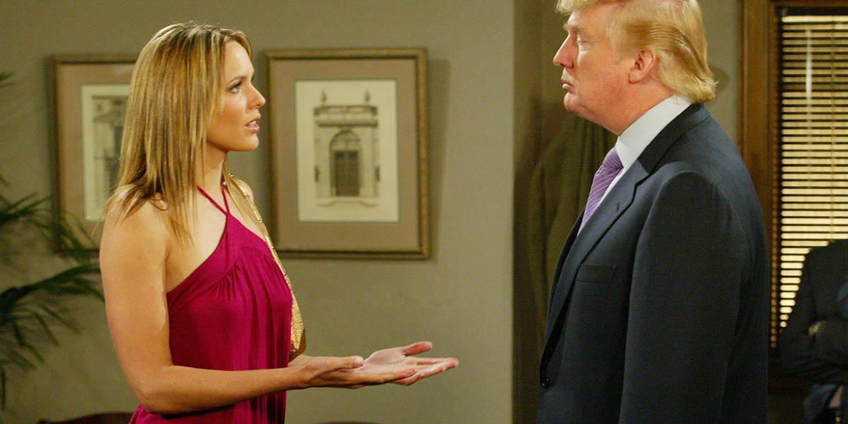 Arianna Zucker and Donald Trump on Days of our Lives