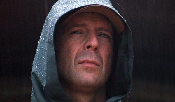 Bruce Willis as David Dunn in Unbreakable