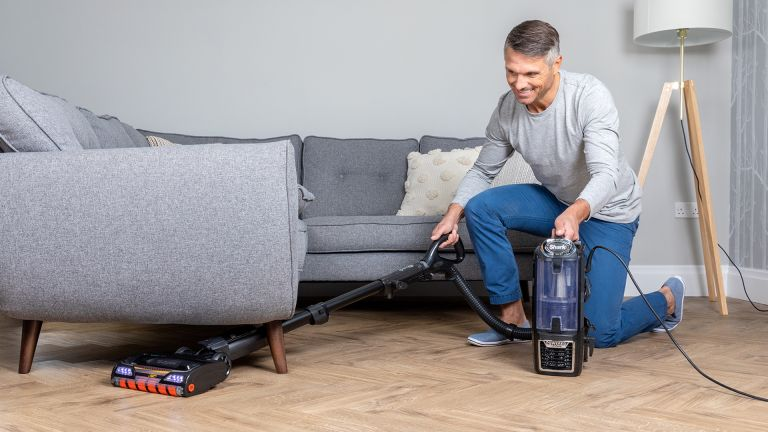 Shark vacuum: Shark DuoClean Upright Vacuum Cleaner, Deluxe Edition with Anti-Hair Wrap NZ801UKTDB