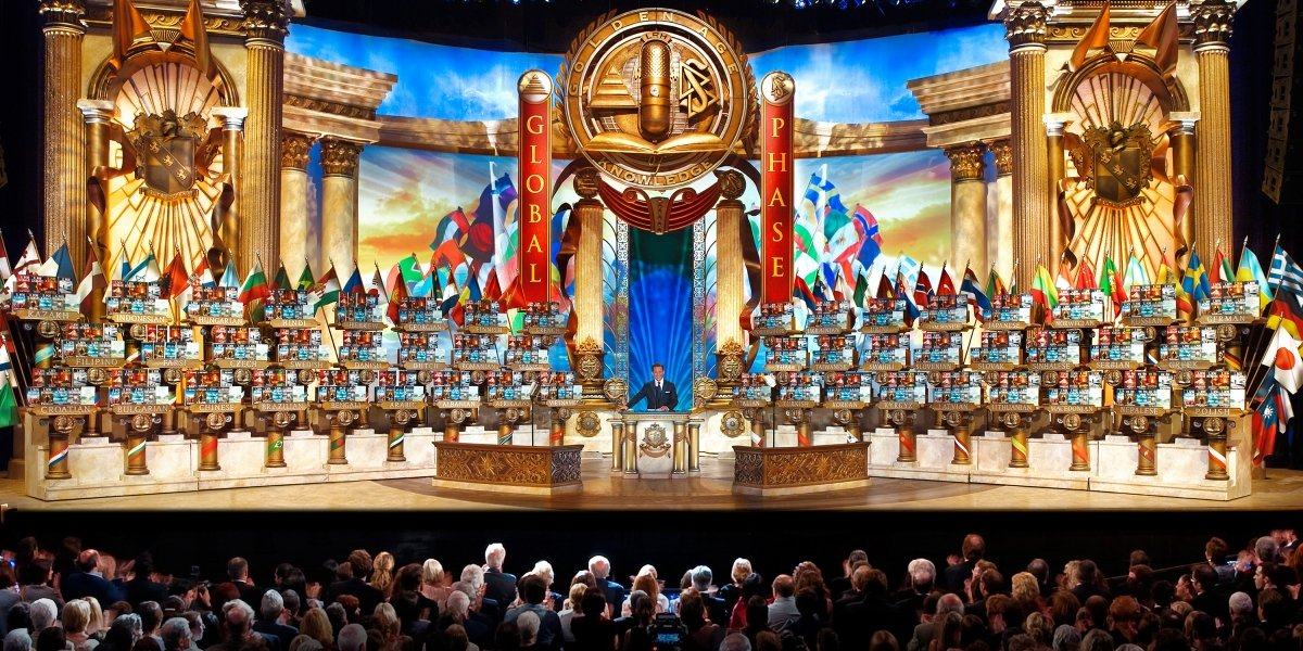 A Scientology conference as seen in Going Clear: Scientology And The Prison Of Belief