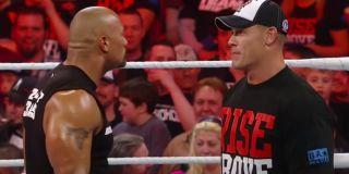 The Rock and John Cena on Raw