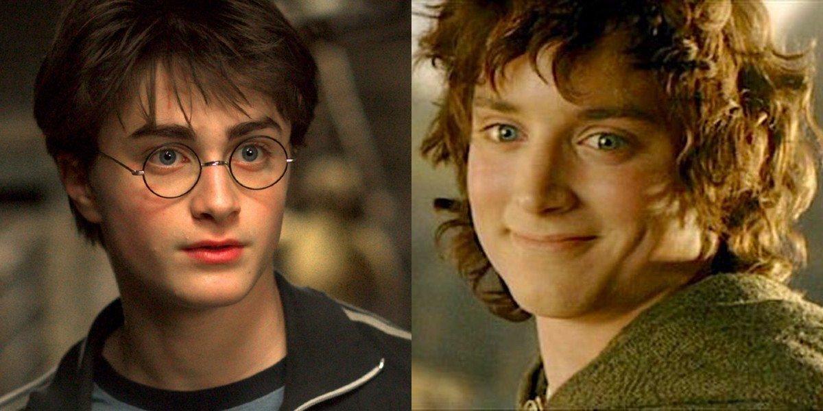 Дэниел Рэдклифф из Гарри Поттера и Элайджа Вуд из LOTR весело реагируют одинаково, когда люди смешивают их на публике