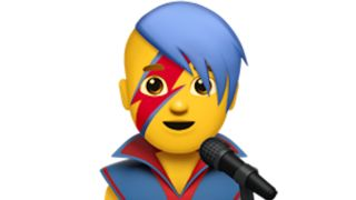 A picture of one of the Bowie emojis
